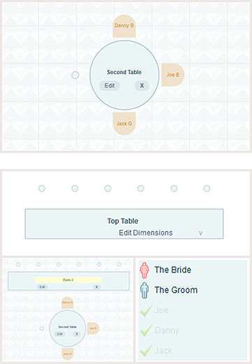wedding seating planner online tool bride