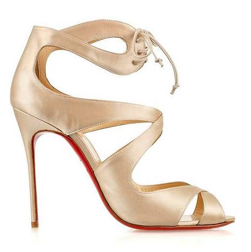 9c64e35e70ca0 These satin sandals are made in a champagne ivory and while they do cost  £520
