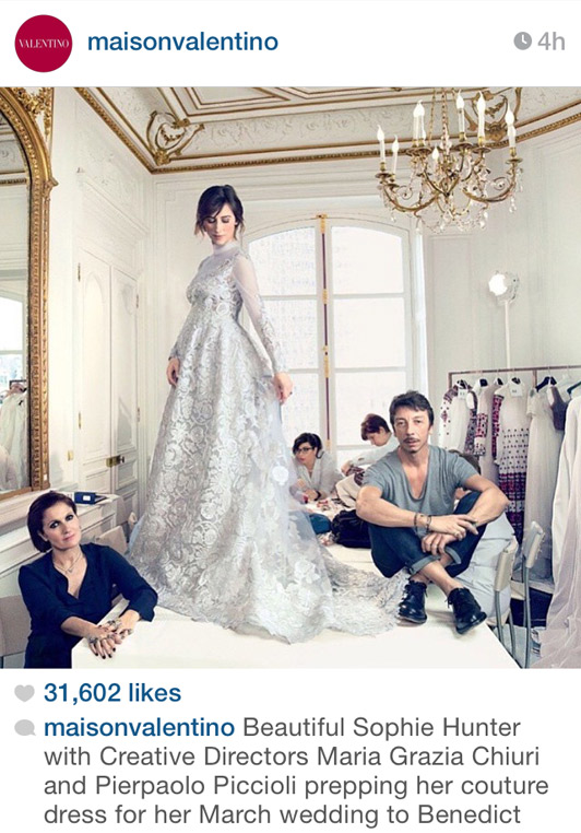 The Valentino Wedding Dress Sophie Hunter Wore In Marriage To Benedict Cumberbatch Revealed