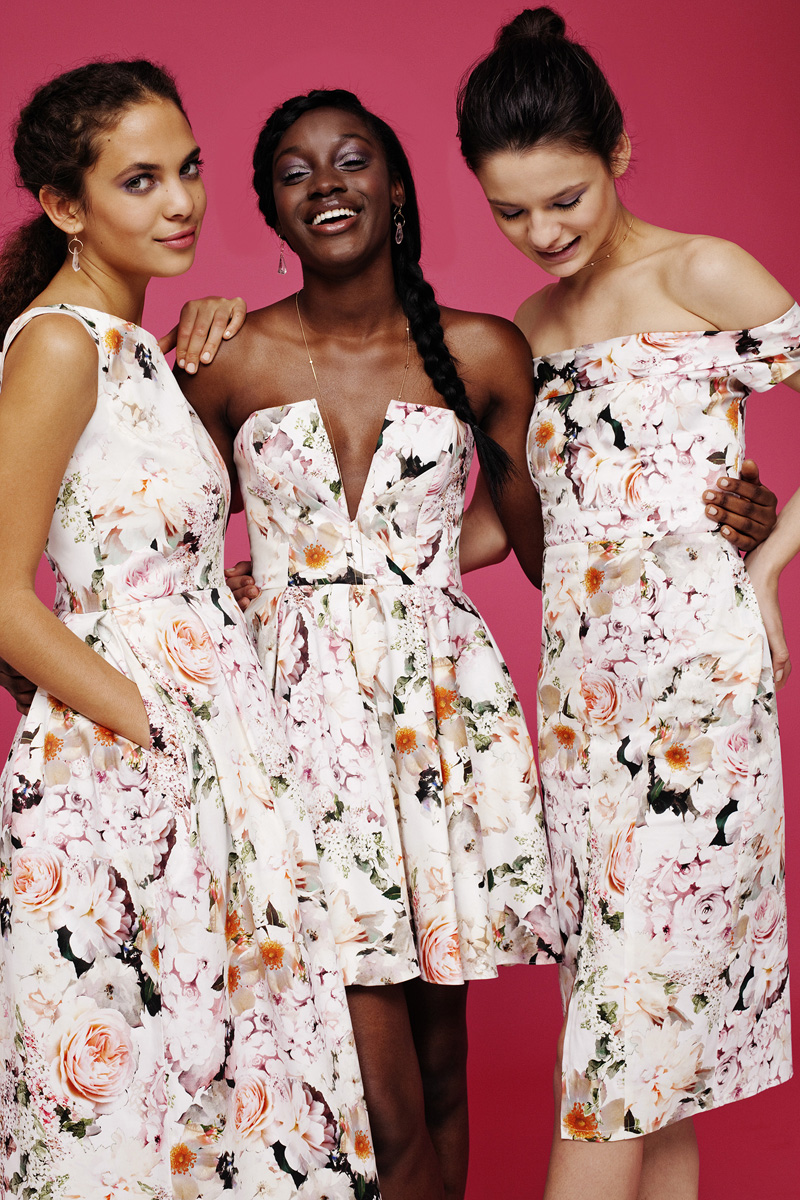 Asos launch range of bridesmaids dresses for Floral dresses for weddings