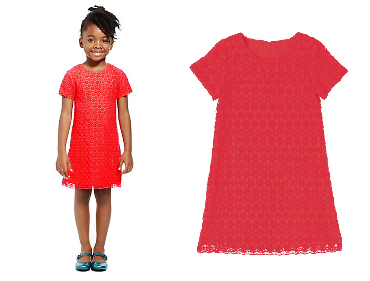 marks-and-spencer-red-flowergirl-dress