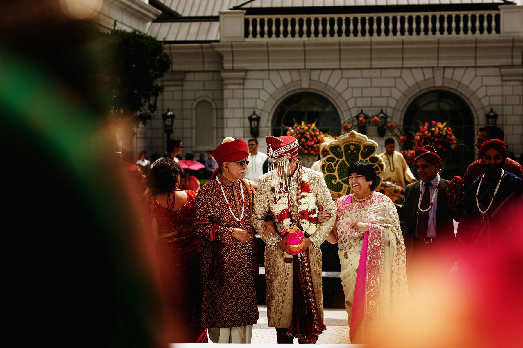 groom-and-family-arriving-at-ceremony-by-rahul-khona