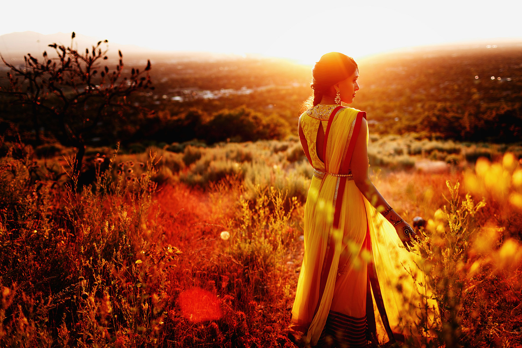 hindu-woman-in-the-golden-glow-of-sunset-by-rahul-khona