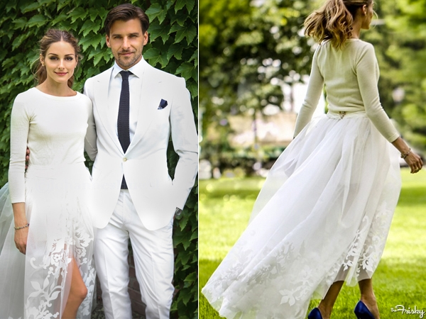 44acbd79350 Steal Olivia Palermo s Wedding Dress Style