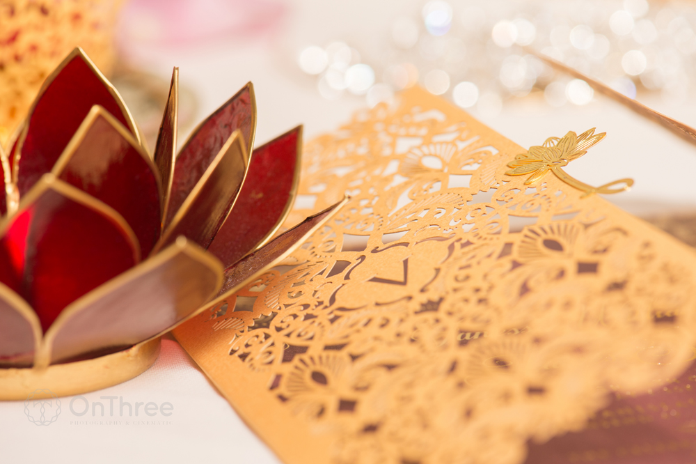 Actress\'s Gold Wedding Stationery Design