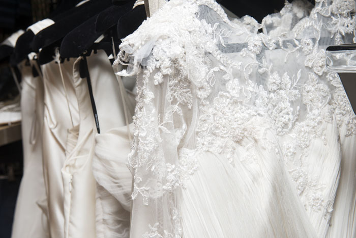 New designer wedding gowns worth thousands on sale at for 2nd hand designer wedding dresses