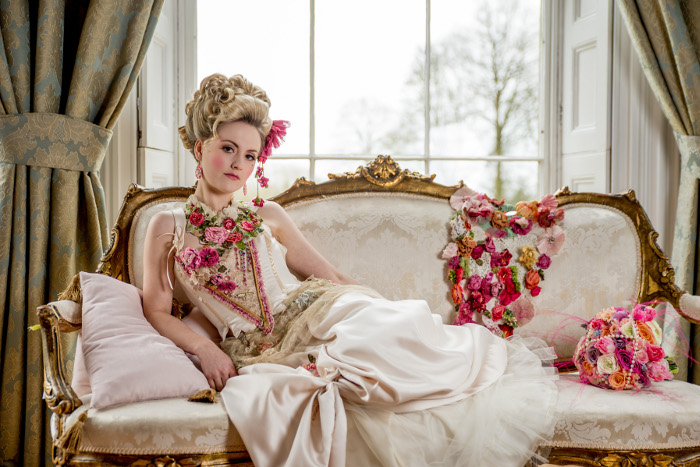 A magnificent Marie Antoinette bridal shoot in Herefordshire