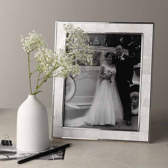 How Much To Give For A Wedding Gift Calculator Uk : The White Company Mother of Pearl Frame 8x10