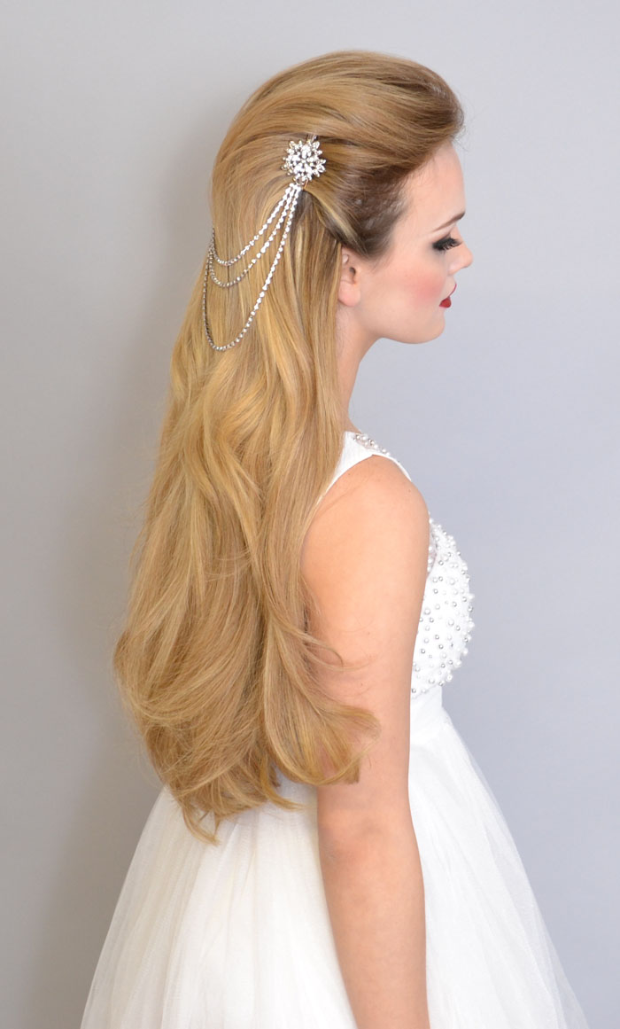 Wedding hair accessories christchurch - 10 Bridal Hair Looks Using Extensions 9