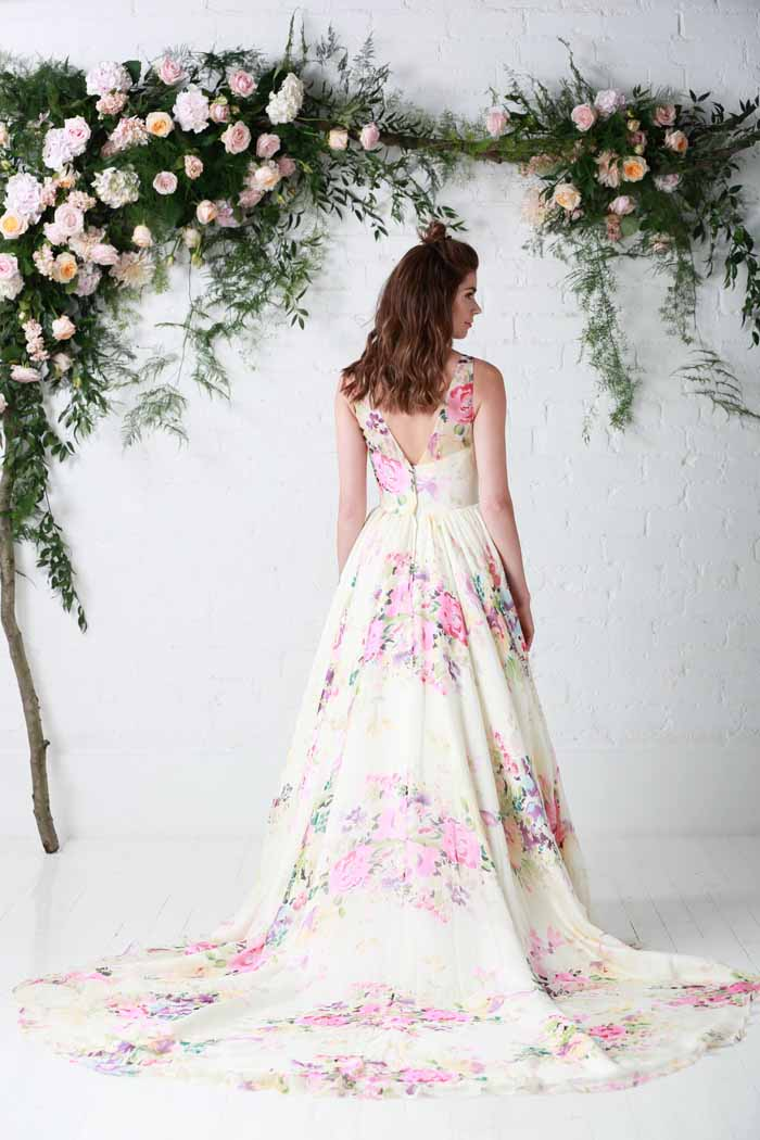 10 reasons to go for a floral wedding dress for Floral dresses for weddings