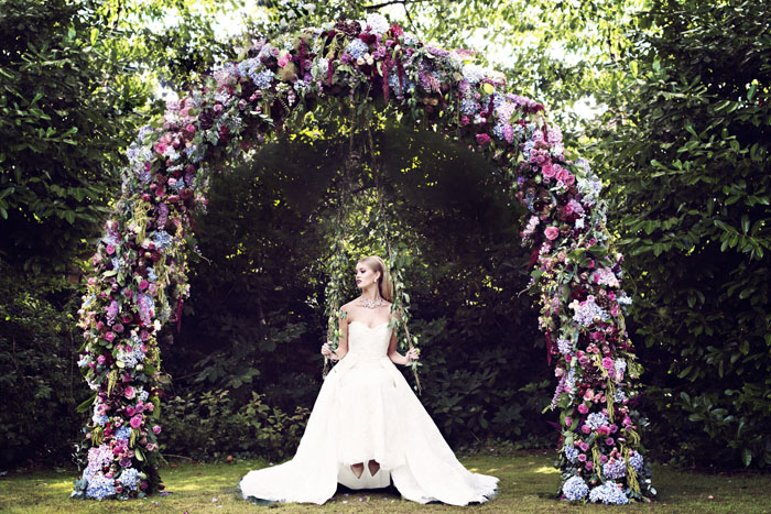 An Opulent Bridal Shoot In The Garden Of Eden