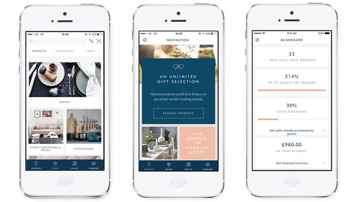 the wedding shop launches app