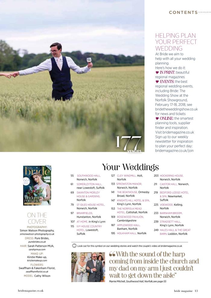 Order your copy of Norfolk & Suffolk Bride magazine 2018, OUT NOW