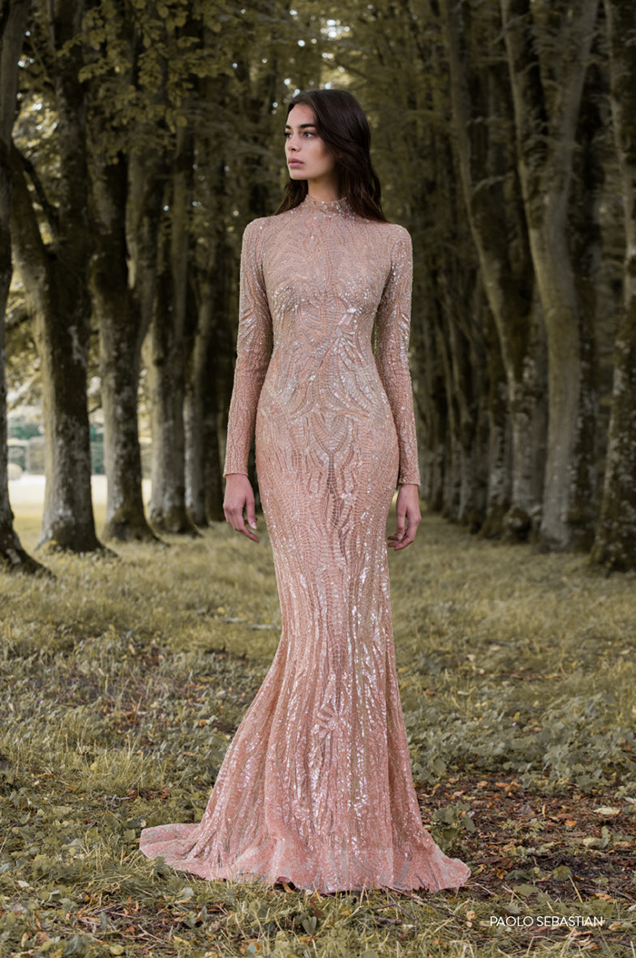 Five nude-coloured wedding dresses for on-trend brides