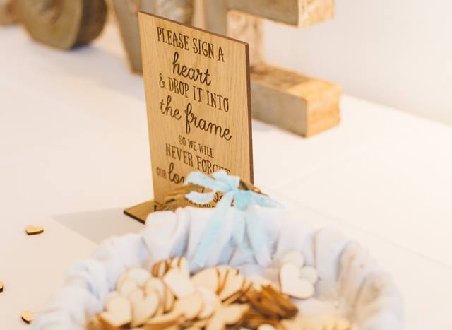 Wedding Buy of the Week Wooden drop box guest book sign, £6