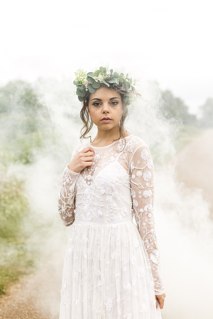 A Minimalist Greenery Themed Boho Bridal Shoot