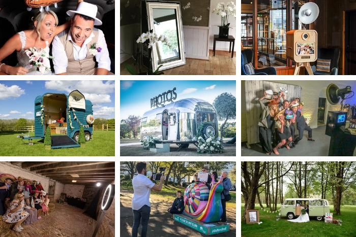 Quirky photo booths in Surrey and SussexQuirky wedding photo