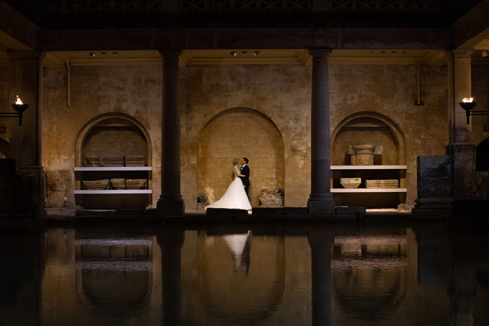 night-time-wedding-at-the-roman-baths-16