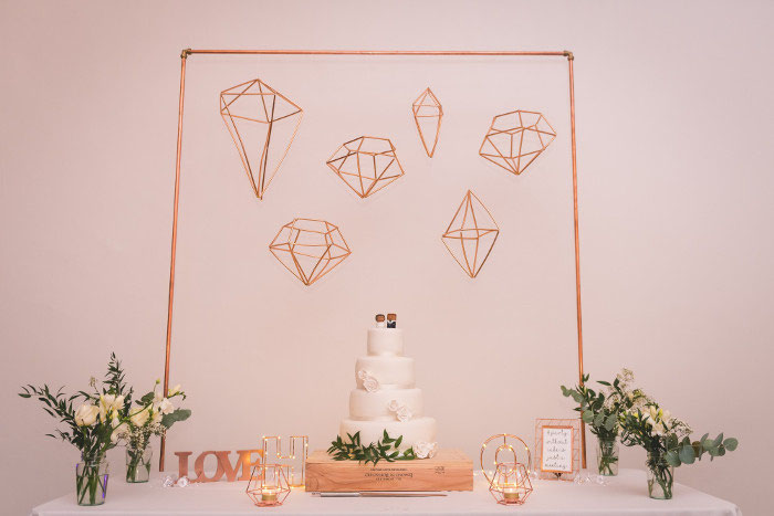 Wedding Buy Of The Week Copper Geometric Backdrop 70 O N O