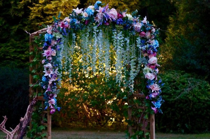 Wedding Buy Of The Week Handmade Faux Floral Arch 150
