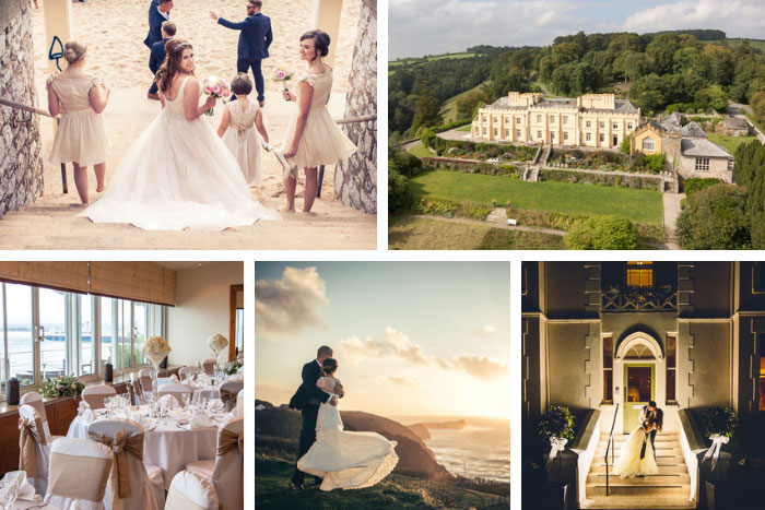 Wedding venues beside the seaside in the South West