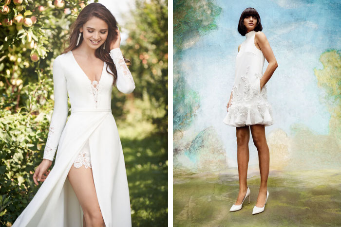 Trend Alert Short Wedding Dresses Are In For 2020