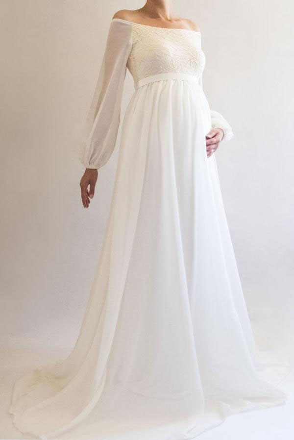 31-fabulous-maternity-wedding-dresses-2020-25