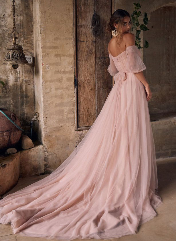 21-pink-wedding-dresses-2021-collections-21